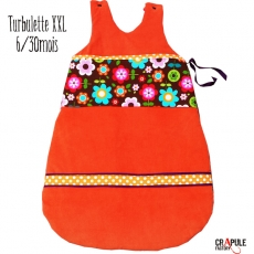 Turbulette / GiGoteuse XXL retro Originale à FROUFROU et POIS  bébé 6/30 mois