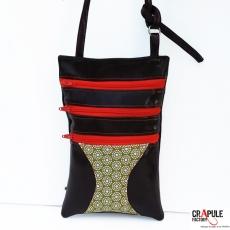 Pochette- sac Evasion vintage multipoche compact chic pour baroudeuse