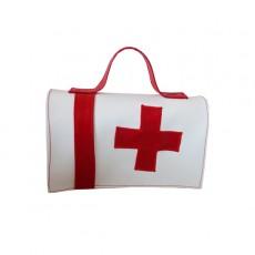"""Mallette de secours """" BOBO pas jojo""""  Pharmacie blanche croix rouge"""