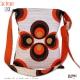 Sac / besace RETRO Pli-Pli'  (plissé) - Ultra bouffant -simili cuir rouge et bleu à pois rouge