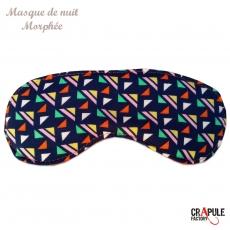 Masque de sommeil Morphée original retro à fleurs marron orange