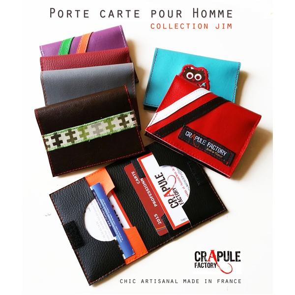 porte carte homme jim original pop violet bande vert. Black Bedroom Furniture Sets. Home Design Ideas