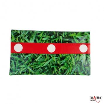 Porte Chéquier retro original  toile cirée rouge à pois