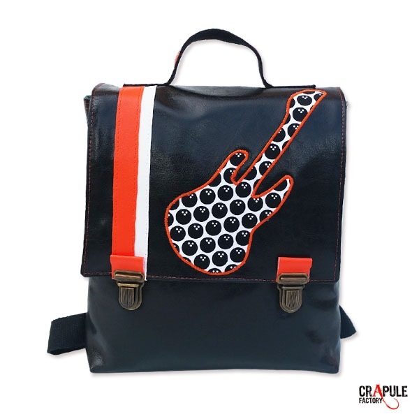 cartable maternelle matriochka sac dos pour enfant orange violet applique poup e russe. Black Bedroom Furniture Sets. Home Design Ideas