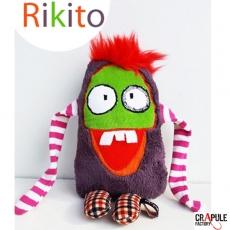 Doudou Original Rikito déjanté tout doux fausse fourrure rouge rigolo