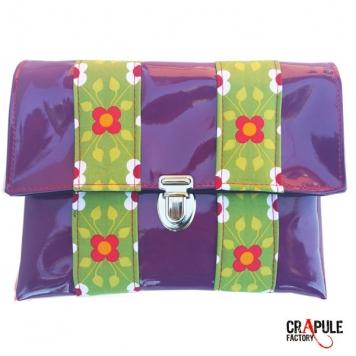 """Pochette """" hop"""" vinyle violet brillant chic et colorée"""