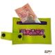 Porte carte Homme JIM original pop violet bande vert orange