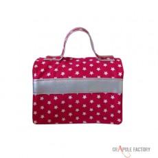 Mini malette à gouter rose fushia étoile et bande argentée- pétillante
