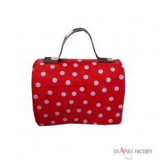 Mini malette  pour le gouter / lunch box /  Original applique voiture vinyle blanc /rouge bébé/ enfant