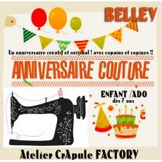 Atelier Couture anniversaire dès 7 ans 3 à 6 enfants