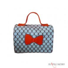 Mini malette / sac à gouter  toile cirée Rose Poupéé russe - Matriochka