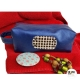 Trousse de toilette originale cuir bleu Electrique et cuir fantaisie poilu à carreaux