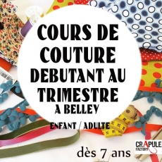 Stage couture Vacances Belley enfants adultes