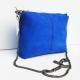 Sac de créateur Andora cuir nubuck Bleu de minuit forme cubique