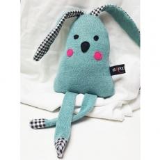 Doudou lapin original lainage bébé
