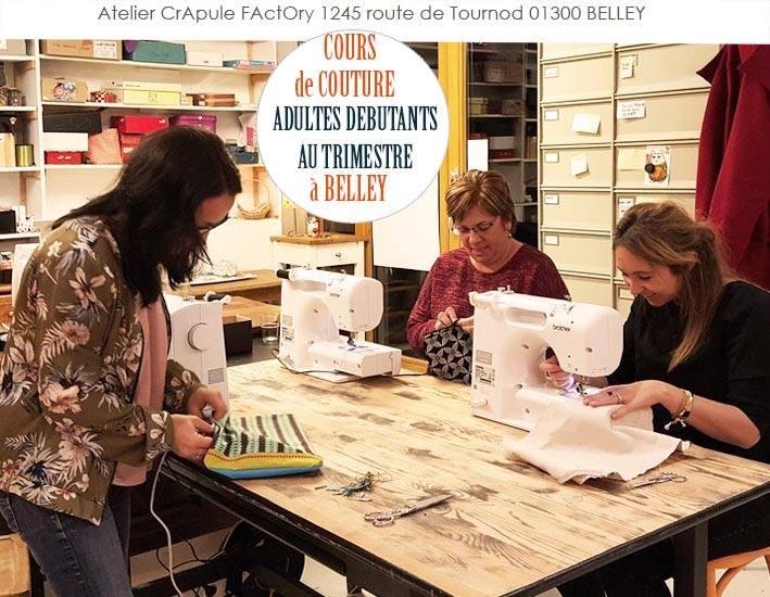 cours de couture au trimestre adultes  crapule factory 1