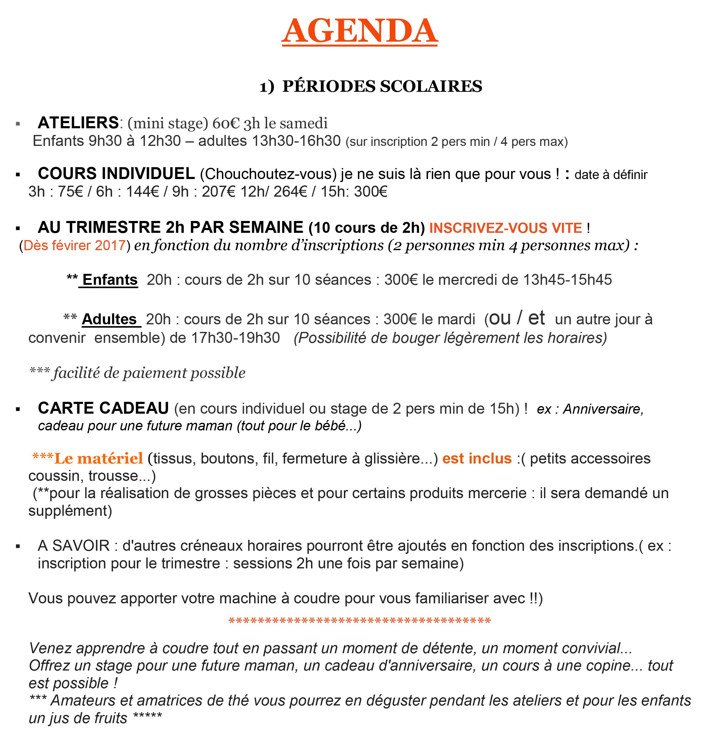 agenda stage de couture 01300 belley crapule factory