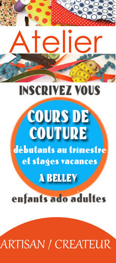 cours et stage de couturedébutants adultes endants ado à belley par crapule factory